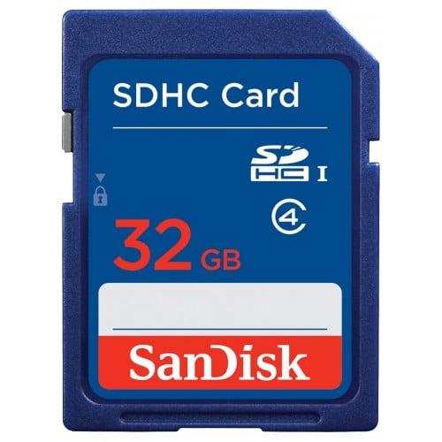 Carte mémoire SD SANDISK SDHC/XC Classe 4 32 GB