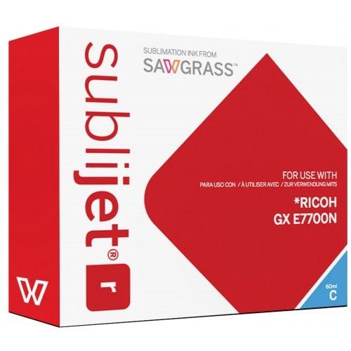 Encre sublimation SAWGRASS Sublijet - Cyan 60ml - pour RICOH Gxe 7700N