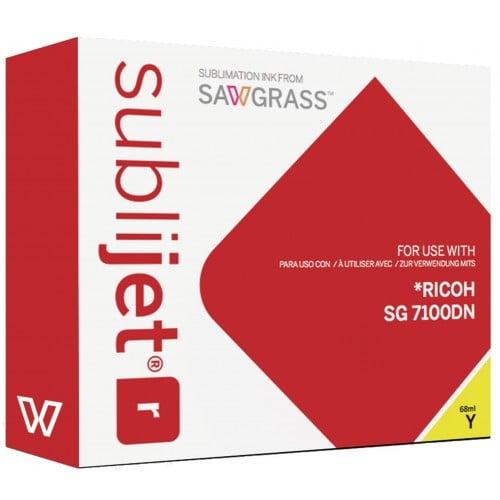 Encre sublimation SAWGRASS Sublijet-R - Jaune 68ml - pour RICOH SG7100DN