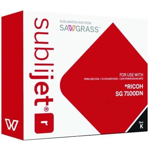 Encre sublimation SAWGRASS Sublijet-R - Noire 75ml - pour RICOH SG7100DN