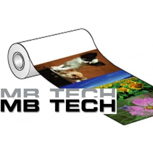 Papier jet d'encre MB TECH 245g pour EPSON D700/ D7 - 203mm x 65m - métal brillant - 2 rouleaux