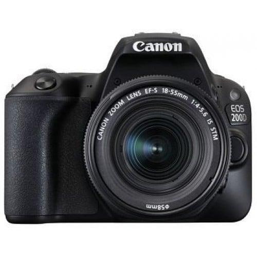Appareil reflex numérique CANON EOS 200D boitier + optique 18-55 IS STM - 24,2Mpx - rafale 5 img./s - écran tactile 7,7cm orient