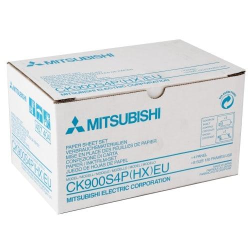 Papier thermique identité MITSUBISHI CK900S4P(HX)EU pour DIS 900  - Carton de 130 tirages