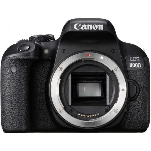 Appareil reflex numérique CANON EOS 800D boitier nu - 24,2Mpx - rafale 6 img./s - écran tactile 7,7cm orientable - vidéo Full HD