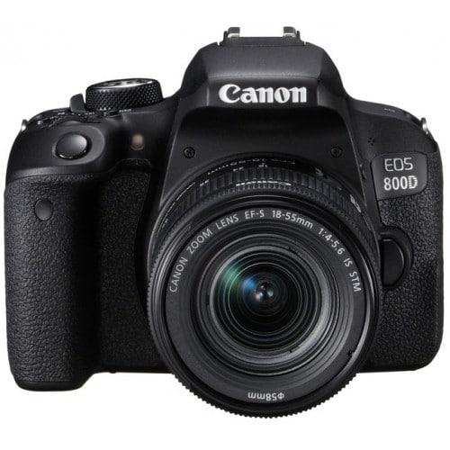 Appareil reflex numérique CANON EOS 800D boitier + optique 18-55 IS STM - 24,2Mpx - rafale 6 img./s - écran tactile 7,7cm orient