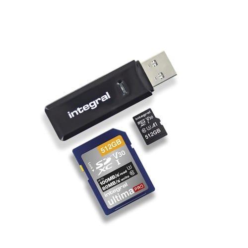 INTEGRAL - Lecteur carte mémoire USB 3.1