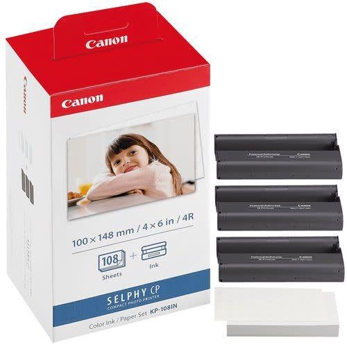 Kit Papier + encre pour imprimante SELPHY CP-810 - 10x15cm - 108 Feuilles (KP-108IN)