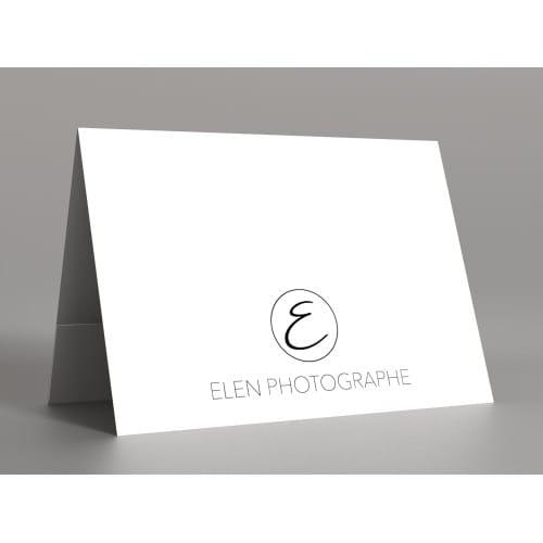 papier blanc satiné 350g  - Impression 1ère et 4ème de couverture