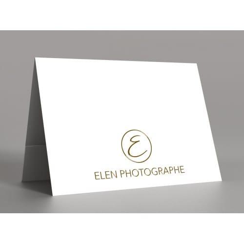 papier blanc satiné 350g  - Impression 1ère et 4ème de couverture avec Dorure Or