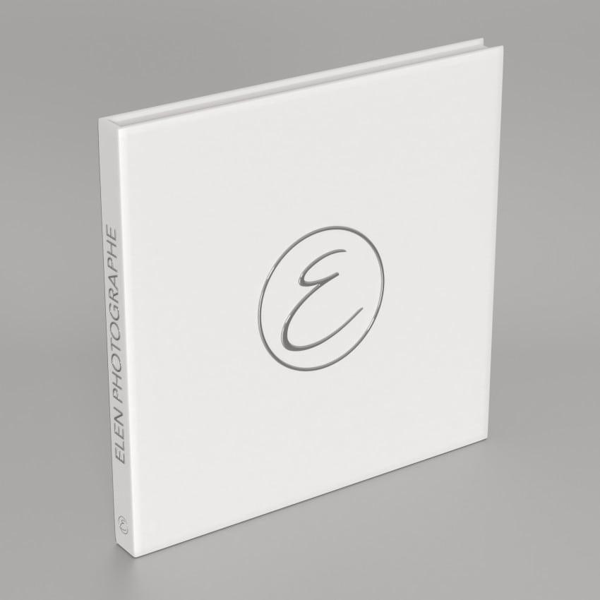 24 feuillets blancs - Impression couverture avec dorure argent