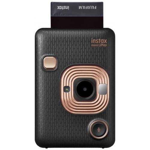 FUJI - Appareil photo instantané Instax Mini LiPlay Noir Elegant - Format Photo 86 x 54 mm - Livré avec 1 batterie, chargeur et dragonne