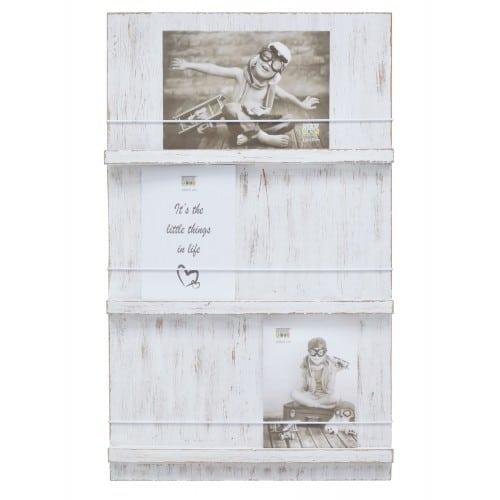 DEKNUDT - Cadre photo multivues S67UB1 peint blanc avec élastique pour photos