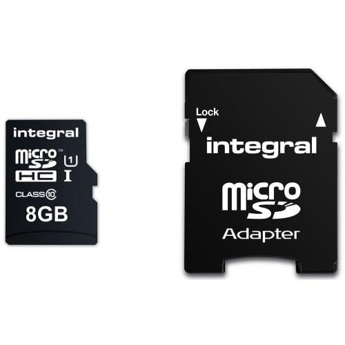 microSDHC UltimaPro Classe 10 (90 Mo/) 8GB (+ adaptateur SD)