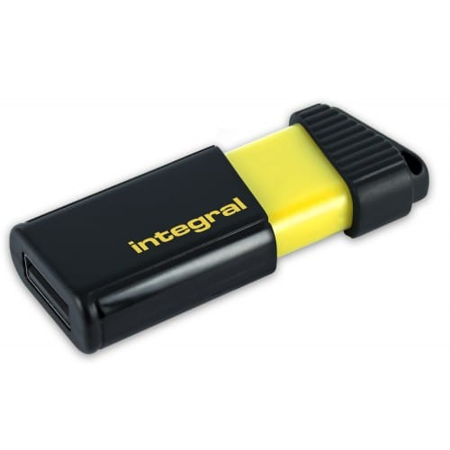 INTEGRAL - Clé USB 2.0 Flash Drive Pulse 64 GB (Jaune)