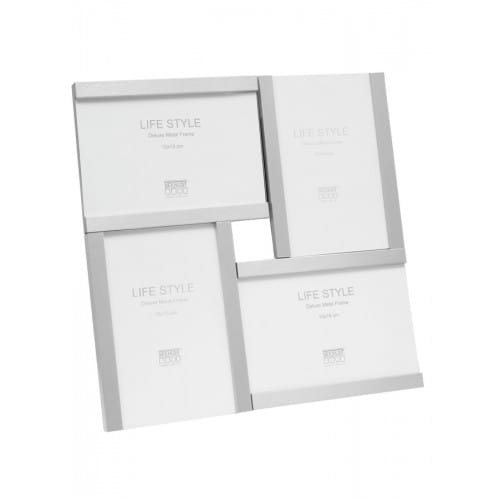 S57MK2 - Cadre multivue argenté mat pour 4 photos 10x15