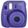 FUJI - Appareil photo instantané Instax Mini 8 - Format photo 62x46mm Livré avec 2 piles LR6 et dragonne Dim. (L)116x(H)118.3x(P)68.2mm - Violet (grape)