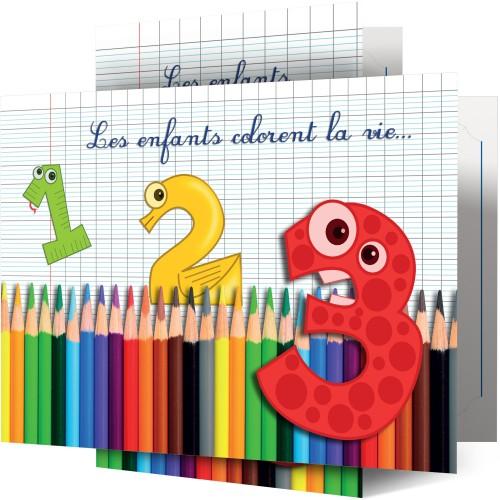 Collection Les Enfants Colorent la Vie - Lot de 100