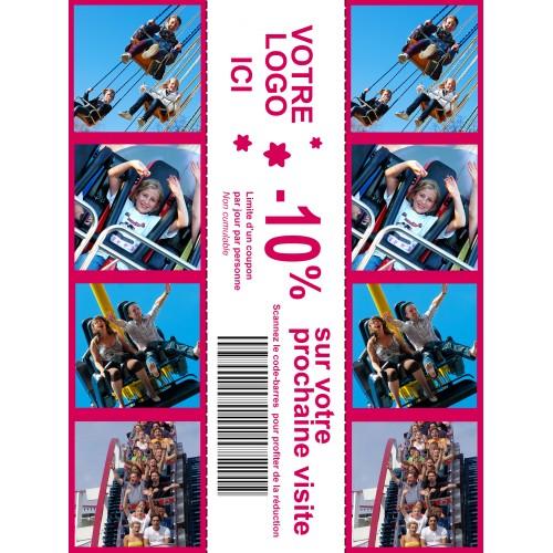 15x20cm - 400 tirages - perforé pour 3x 5x20cm (spécial évènementiel)