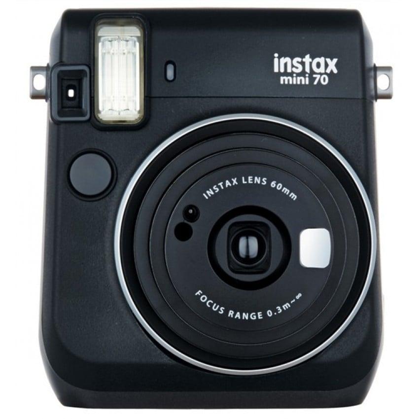 Appareil photo instantané FUJI Instax Mini 70 - Format photo 62x46mm - Livré avec 2 piles lithium CR2 - Dim. (L)99,2x(H)113,7x(P