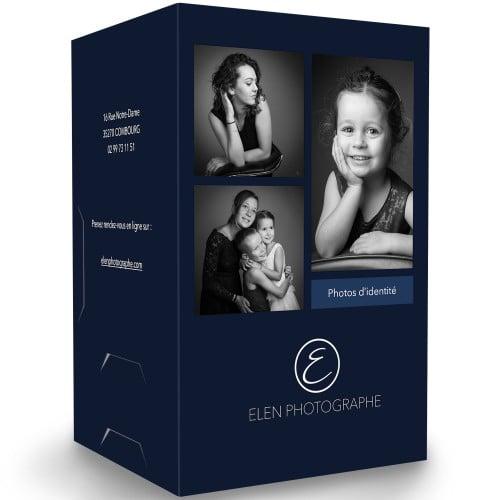 Chemise identité impression extérieure et intérieure quadri avec Vernis 3D papier 350g satiné 12x17cm avec encoches