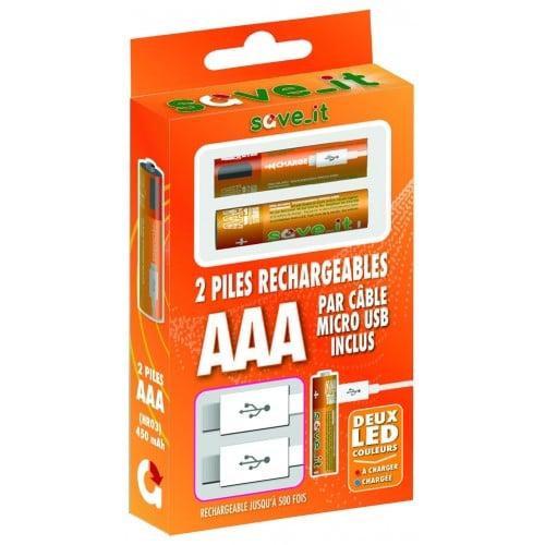 en micro USB LR03 450mAh (blister 2) *