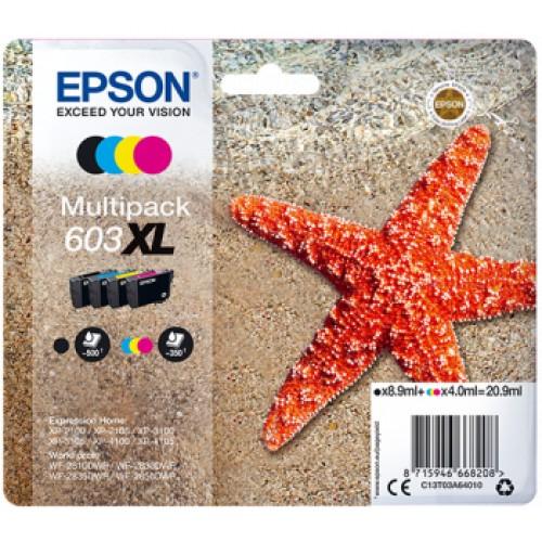Epson cartouche Etoile de mer n°603XL multipack 4 couleurs 20,9ml *