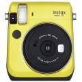 FUJI - Appareil photo instantané Instax Mini 70 - Format photo 62x46mm - Livré avec 2 piles lithium CR2 - Dim. (L)99,2x(H)113,7x(P)53.2mm - Jaune