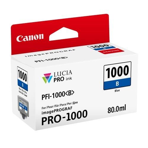 cartouche PFI-1000 bleu pour Prograf Pro 1000 (80ml)