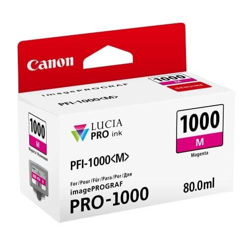 cartouche PFI-1000M magenta pour Prograf Pro 1000 (80ml)
