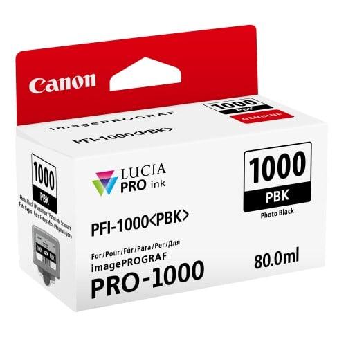 cartouche PFI-1000PBK noir photo pour Prograf Pro 1000 (80ml)