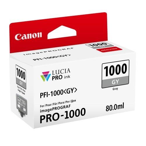 cartouche PFI-1000GY gris pour Prograf Pro 1000 (80ml)