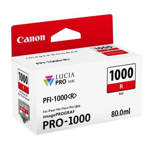 Canon cartouche PFI-1000R rouge pour Prograf Pro 1000 (80ml)
