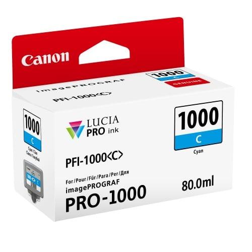 Canon cartouche PFI-1000C cyan pour Prograf Pro 1000 (80ml)