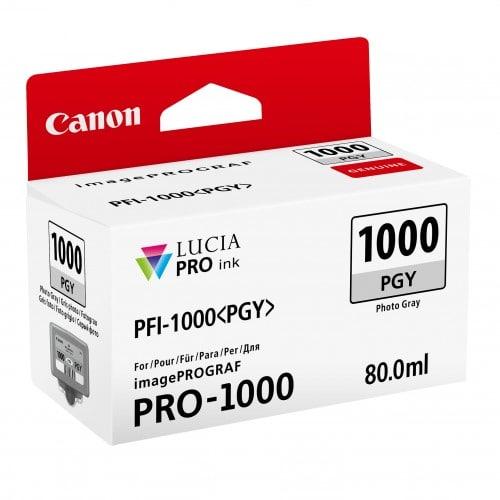 cartouche PFI-1000PGY gris photo pour Prograf Pro 1000 (80ml)