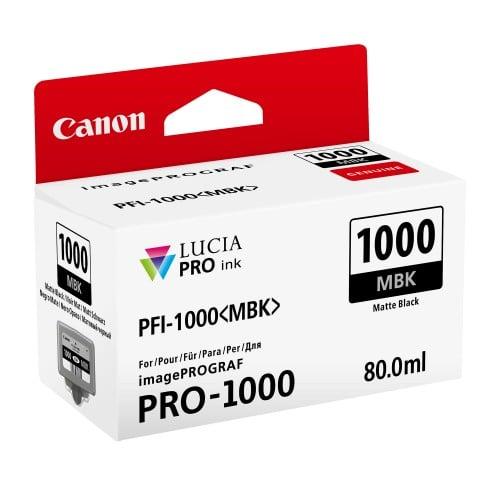 Canon cartouche PFI-1000MBK noir mat pour Prograf Pro 1000 (80ml)