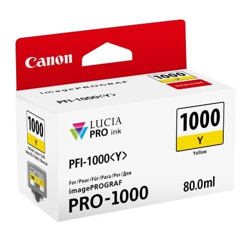 Canon cartouche PFI-1000J jaune pour Prograf Pro 1000 (80ml)