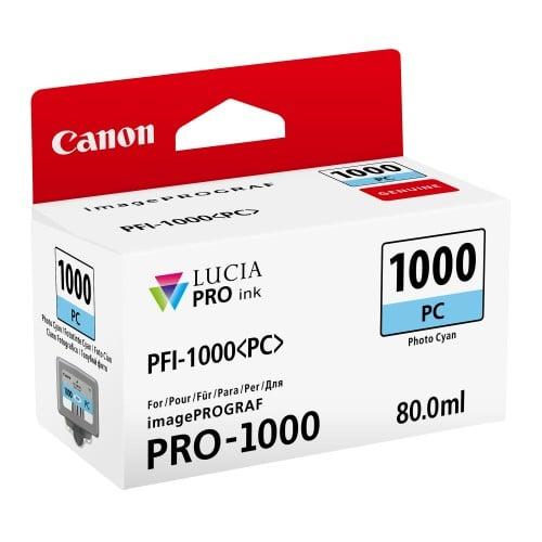 cartouche PFI-1000PC cyan photo pour Prograf Pro 1000 (80ml)