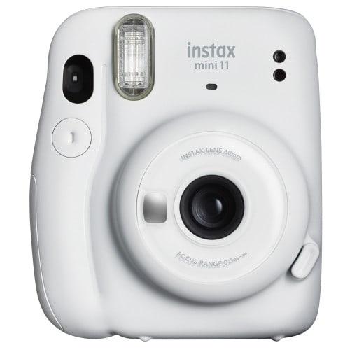 FUJI - Appareil photo instantané Instax Mini 11 - Format photo 62 x 46mm - Livré avec 2 piles LR6 et dragonne - Ice white (Blanc)