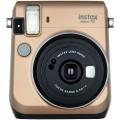 FUJI - Appareil photo instantané Instax Mini 70 - Format photo 62x46mm - Livré avec 2 piles lithium CR2 - Dim. (L)99,2x(H)113,7x(P)53.2mm - Gold