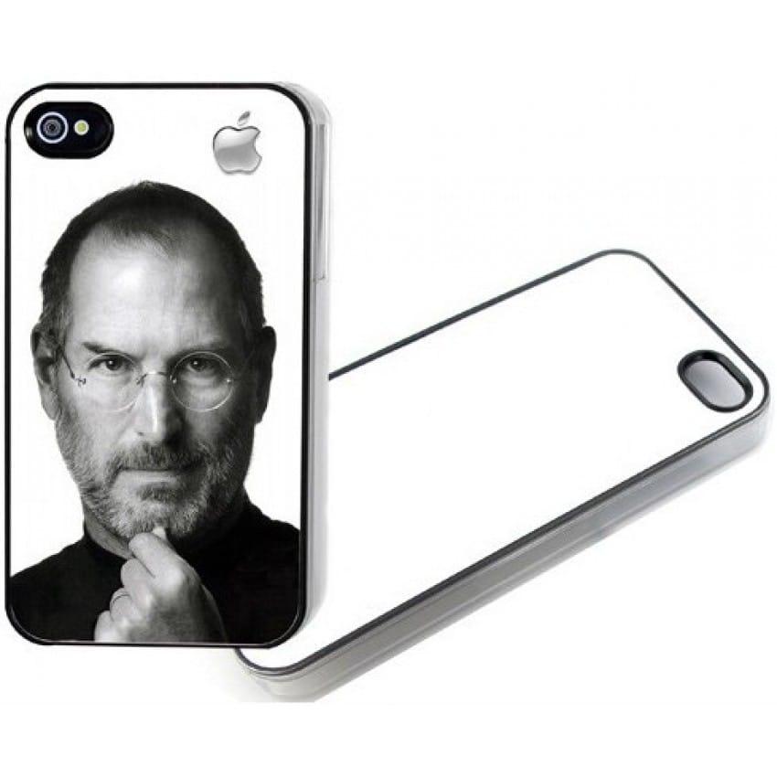 Coque smartphone MB TECH 2D iPhone 4 / 4S souple noire avec feuille aluminium