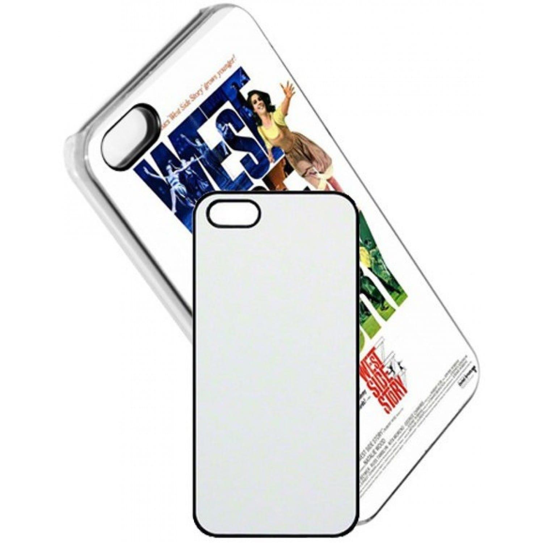 coque smartphone mb tech 2d iphone 5 5s souple blanche avec feuille aluminium