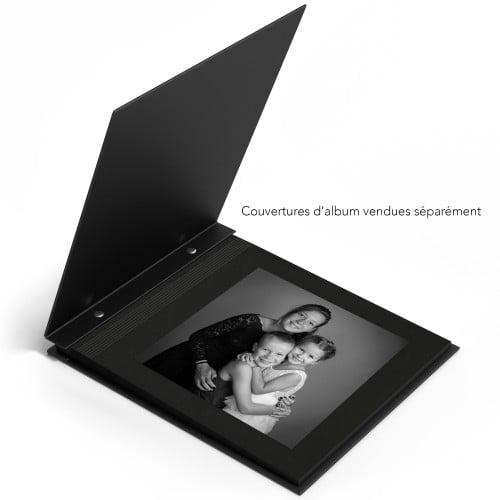 Feuillet pour album rechargeable à vis cachées - 300g - par lot de 100 - sans impression