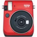 FUJI - Appareil photo instantané Instax Mini 70 - Format photo 62x46mm - Livré avec 2 piles lithium CR2 - Dim. (L)99,2x(H)113,7x(P)53.2mm - Rouge