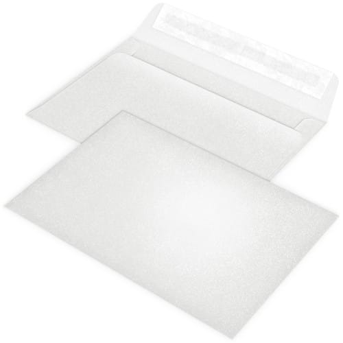 blanche nacrée 12 x 17cm (Conseillée pour les Faire-part PFP003, PFP004 ou PFP023)