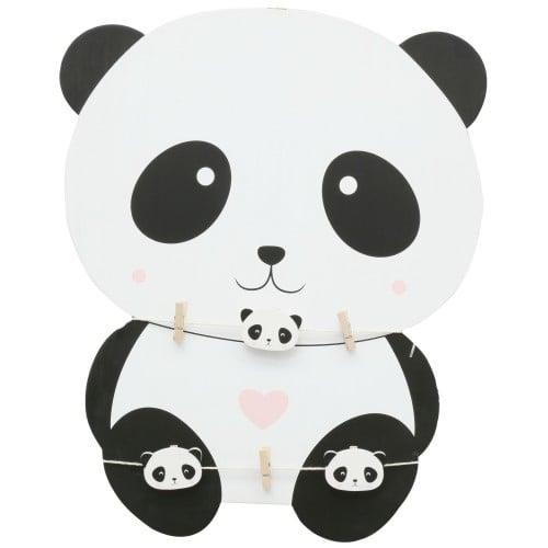 Deknudt panneau bois forme panda avec 2 fils + 6 pinces (L''unité) *