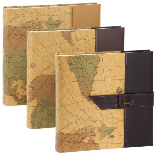 ERICA - Carnet de voyage TRAVEL 2 - 100 pages blanches traditionnelles + feuillets cristal - 400 photos - Couverture Coloris aléatoire 30,5x30,5cm - à l'unité