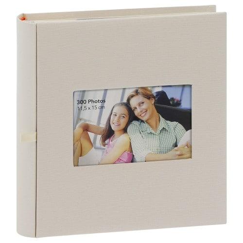 ERICA - Album photo pochettes avec mémo SQUARE - 150 pages blanches - 300 photos - Couverture Beige 23,5x25cm + fenêtre