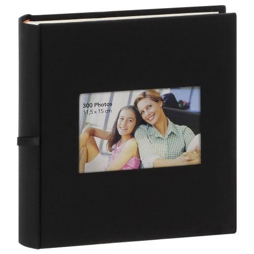 pochettes avec mémo ERICA SQUARE - 100 pages blanches - 300 photos - Couverture Noire 23,5x25cm