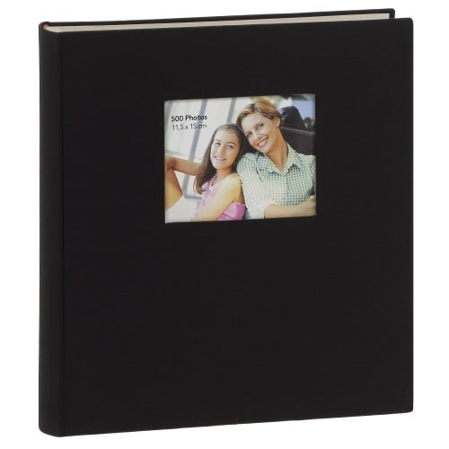 classique personnalisable série ''Square'' mémo 500 photos 11,5x15 - Noir - Pochettes couverture rigide