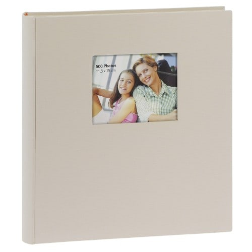 ERICA - Album photo pochettes avec mémo SQUARE - 100 pages blanches - 500 photos - Couverture Beige 36x36,5cm + fenêtre